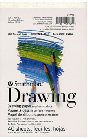 Strathmore Student Art Drawing Paper Pad (8.5 In. x 5.5 In.) 3 pcs sku# 1824778MA by Strathmore