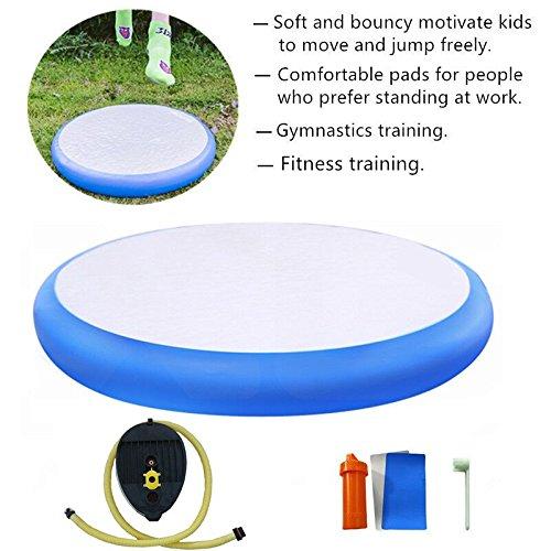 - ARCADIAW Airspot Round Air Floor Air Track for Gym Training Dia 0.7m / 1m /1.4m (grayblue, L)