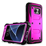 Galaxy S7 Edge case, Samcore Full body Protective Shock Reduction Belt Clip Case With Rugged Holster, WITHOUT Built in Screen Protector for Samsung Galaxy S7 Edge [PURPLE]