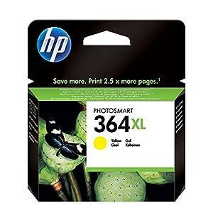 HP 364XL Yellow Ink Cartridge Amarillo cartucho de tinta - Cartucho de tinta para impresoras (Amarillo, HP Photosmart B8550, HP Photosmart C5324, HP Photosmart C5380, HP Photosmart C6324, HP Photosmart..., Alto rendimiento (XL), Amarillo, Inyección de tinta, 5 - 80%) 10