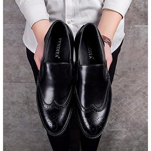 GLSHI Hombres Negocios Oxford Brogue Hombres De Negocios Hombres Zapatos Británicos af7618
