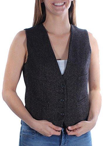 Ralph Lauren Wool Vest (RALPH LAUREN Denim & Supply Twill Button-Front Vest (Medium, Black/Brown))
