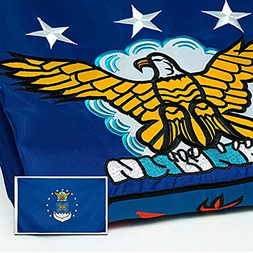 "Double Layer 10x15/"" USAF Air Force Car Window Flag w//bracket"