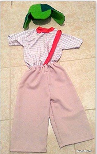 El Chavo del ocho Party Costume Kids Child T2 T4 T6 T8 T10 T12 (T8)