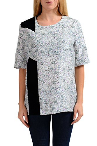 maison-martin-margiela-1-womens-100-silk-short-sleeve-blouse-top-us-m-it-42