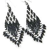La vivia Black Seed Beads Handmade Indian Earrings- E-14-SB-42