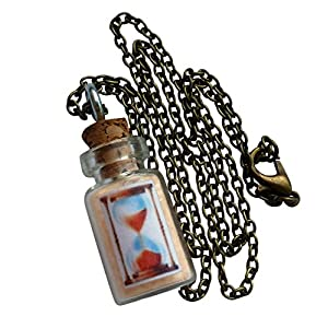 UMBRELLALABORATORY HouRGLAss fairy glow in the dark necklace bottle