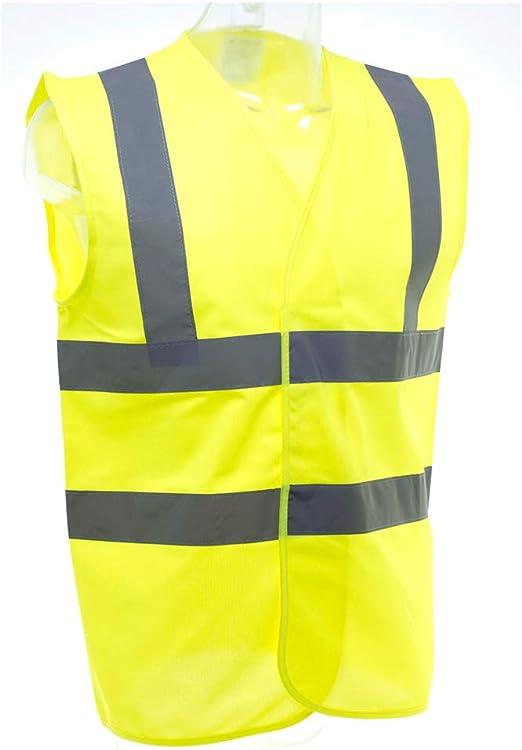Veste de Gilet de s/écurit/é r/éfl/échissante pour Les activit/és de Circulation de Nuit en Plein air Course Marche et Travail v/élo Yosoo Health Gear Gilet de s/écurit/é Haute visibilit/é