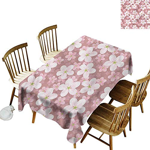 - Spill-Proof Table Cover Flower Cherry Blossoms Petal Party Decorations Table Cover Cloth 52