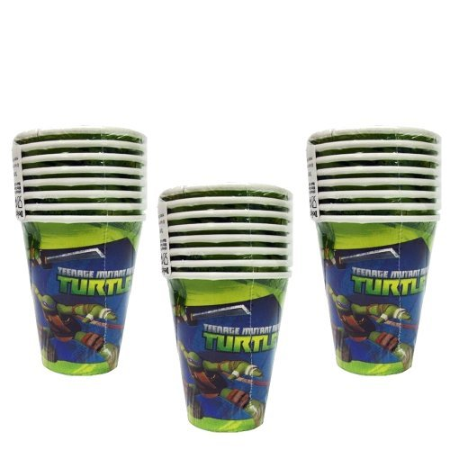 TMNT Teenage Mutant Ninja Turtles Party 9oz. Hot/Cold Paper Cups - 24 Guests