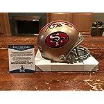 41ae3666c91 Merton Hanks Autographed Signed San Francisco 49ers Throwback Mini Helmet  Beckett.