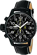 Invicta Men's 3332 Force Collection Stainless Steel Left-Handed Watch with Black Leather Band