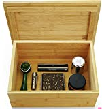 VUTADA Wood Stash Box Large with Rolling Tray - Handmade Decorative Stash Box - 11' x 8' x 4.5' Storage Box - Premium Quality Dovetail Design Discrete Wooden Stash Boxes (Large)
