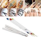 Alicenter(TM) 6 Pcs Fine Drawing Striping Liner Design Nail Pen Brushes DIY Gel Manicure To