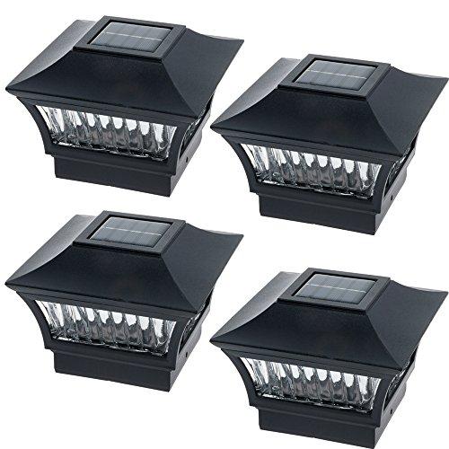 GreenLighting Aluminum Solar Post Cap Light 4x4 Wood or 5x5 PVC (Black, 4 Pack) by GreenLighting (Image #7)