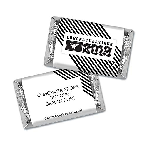 Black Graduation Candy Buffet Class of 2019 (Approx 14lbs) - Includes Hershey's Kisses, Dum Dums Lollipops, Buttermints, Gumballs and More by WH Candy (Image #1)
