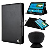 VanGoddy Black Arthur Rotatable Portfolio Case Cover for the Samsung Galaxy Note Pro 12.2 Inch + Bluetooth Speaker