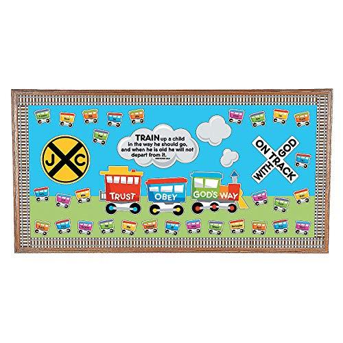 Fun Express - Faith Train Bb Set - Educational - Classroom Decorations - Bulletin Board Decor - 1 Piece