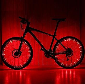 XeibD - Cuerda de luz LED para rueda de bicicleta (rojo): Amazon.es: Hogar