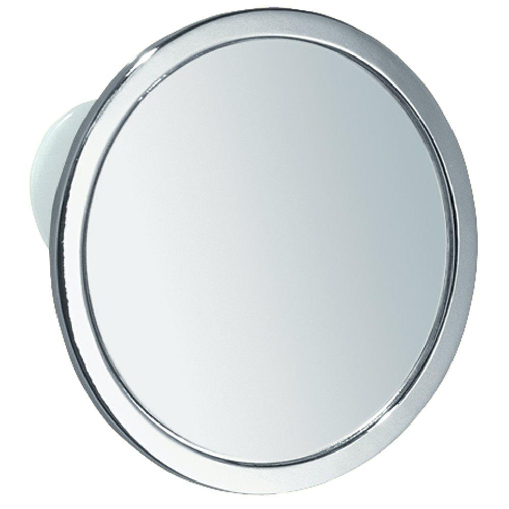 Wall mounted bathroom mirror - Interdesign Suction Bathroom Or Shower Shaving Mirror Chrome Finish