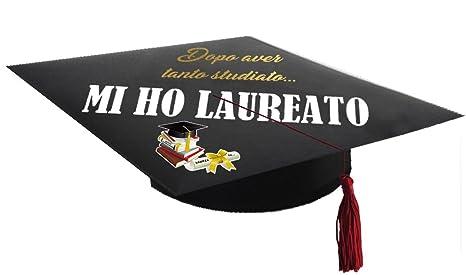 stili classici stile distintivo grande sconto Cappello di Laurea stampato per laureato.