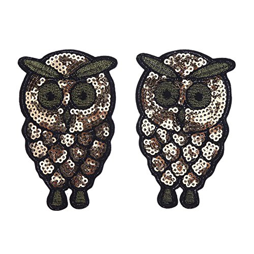Sequin Eagle - Vipeco Clearance, 2pcs Clothes Patches Pasters Embroidery Chapter Eagle Sequins Sticker Decor