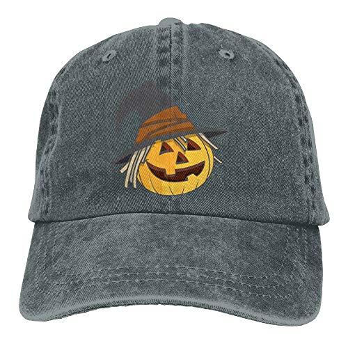 Halloween Pumpkin Hat Denim Hat Adjustable Plain Baseball Caps -