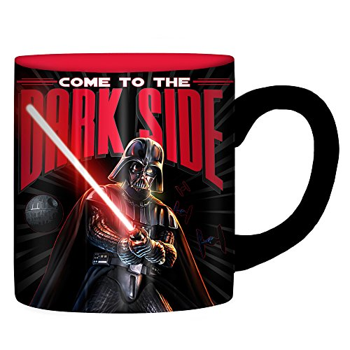 Silver Buffalo SW3832Z Disney Star Wars Come to the Dark Side Laser Print Ceramic Mug,-Ounces