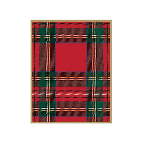 Caspari Royal Plaid Gift Enclosure Cards, 12 Mini Cards & Envelopes