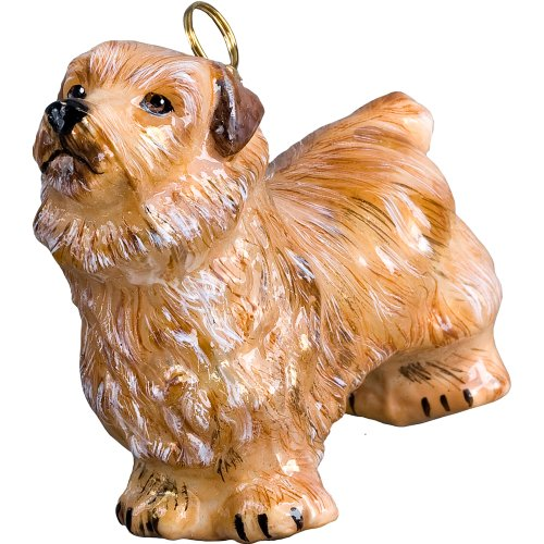 (British Norfolk Terrier Polish Glass Christmas Ornament Dog Tree Decoration)