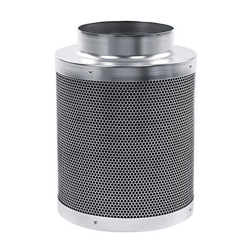 6 inch Stainless steel Carbon Filter Odor Control,Activated Charcoal Air Scrubber for Hydroponics Indoor Plant Grow Tent Room House Workshop(11.89 inch) ()