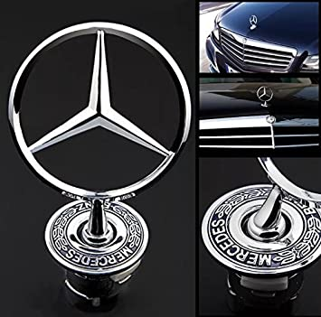 Mercedes W204 W211 W212 W221 Front Hood Star Emblem Chrome Symbol Badge Genuine