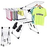 New Laundry Clothes Storage Drying Rack Portable Folding Dryer Hanger Heavy Duty