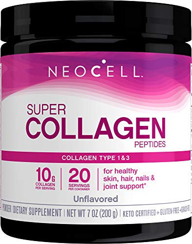NeoCell Super Collagen Peptides Powder, 7 Ounces, Non-GMO, Grass Fed, Paleo Friendly, Gluten Free, For Hair, Skin, Nails…