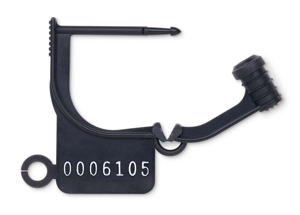 Key Surgical LT-900N Locking Tag, Uniquely Numbered, Black (Pack of 100)