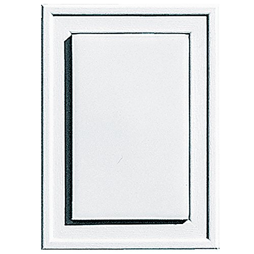 Builders Edge 130130001001 Raised Mini Mounting Block 001, White