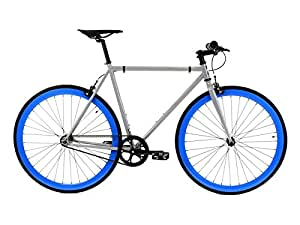 Golden Cycles Fixed Gear Single Speed Fixie Road Bike (Hammer, 52)