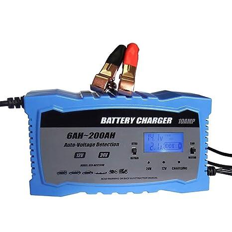 ZUEN Cargador de batería de Coche rápido Inteligente de 24 V LCD ...