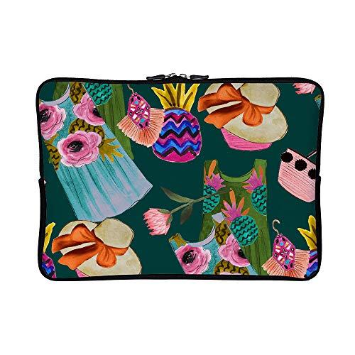 DKISEE Abstract Summer Clipart Neoprene Laptop Sleeve Case Waterproof Sleeve Case Cover Bag for MacBook/Notebook/Ultrabook/Chromebooks