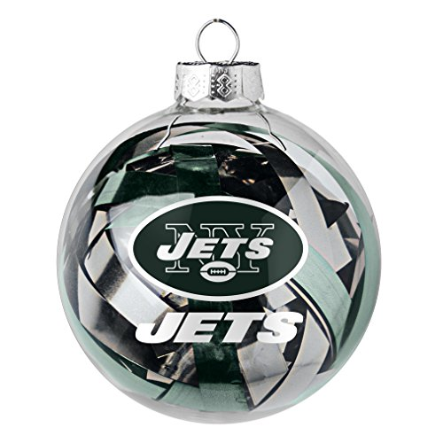 NFL New York Jets Large Tinsel Ball Ornament