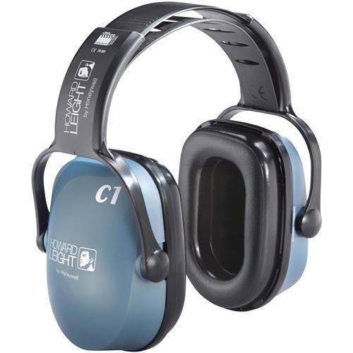 1011142 Sperian Howard Leight Clarity C1 Sound Management Earmuffs - Plastic, Acetal, Polypropylene, Polyvinyl Chloride (PVC), Polyurethane Headband, Headband, Earcup - 1Each - Light - Chloride Polyvinyl Plastic