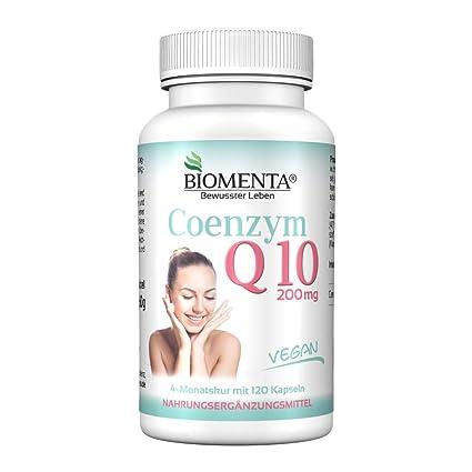 Biomenta COENCIMA Q10 - Q10 DOSIS ALTA 200 mg cada Cápsula - 120 VEGANO Q10-