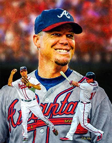 - Chipper Jones Atlanta Braves MLB Turner Field Baseball Stadium Art Print 1AM3 11x14-48x36
