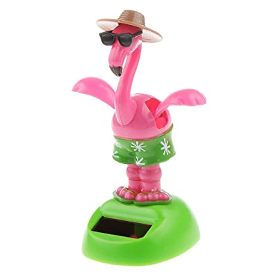 ygmoner Flapping Wings Flamingo Solar Powered Shaking Toy: Toys & Games