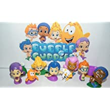 Nickelodeon Bubble Guppies Deluxe Figure Set Toy Playset of 12 with Gil, Molly, Bubble Puppy, Mr.Grouper, Guppies and More! by Bubble Guppies
