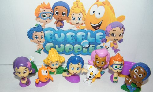 Deluxe Bubble (Nickelodeon Bubble Guppies Deluxe Figure Set Toy Playset of 12 with Gil, Molly, Bubble Puppy, Mr.Grouper, Guppies and)