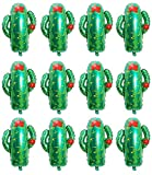 12-Pack XL Cactus Foil Balloons For Mexican Fiesta Party Cactus Themed Birthday Party Luau Hawaii Party