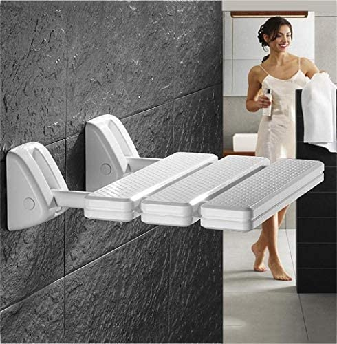 GUO Haushalt Rutschfester Duschhocker Faltbare Wand Bad Hocker Raum ABS Duschsitz Hocker Elderly Sicherheit Bad Stuhl Badezimmer Behinderte Faltbare Wand Hocker Kreative multifunktionale Duschhocker