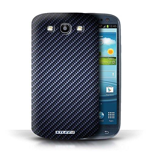 Etui pour Samsung Galaxy S3/SIII / Bleu conception / Collection de Motif de Fibre de Carbone