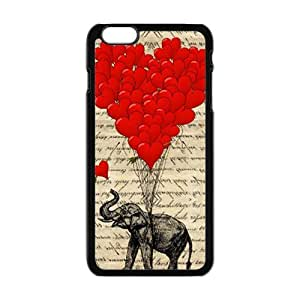 Elephant with Red heart shape balloon Cell Phone Case for Iphone 6 Plus